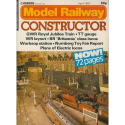 Model Railway Constructor 1981 April
