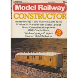 Model Railway Constructor 1981 July