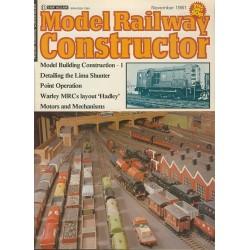 Model Railway Constructor 1981 November