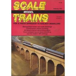 Scale Model Trains 1989 February
