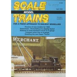 Scale Model Trains 1989 April