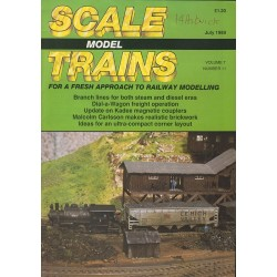 Scale Model Trains 1989 July