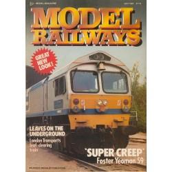 Model Railways 1987 July