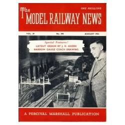 Model Railway News 1953 August