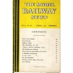 Model Railway News 1947 March