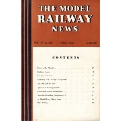 Model Railway News 1943 April