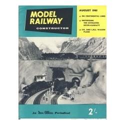 Model Railway Constructor 1961 August