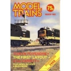 Model Trains 1983 March