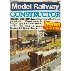 Model Railway Constructor 1981 February