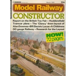 Model Railway Constructor 1981 March