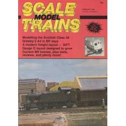 Scale Model Trains 1986 February