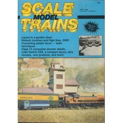 Scale Model Trains 1986 April