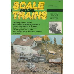 Scale Model Trains 1986 July