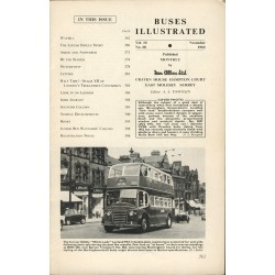 Buses Illustrated 1960 November