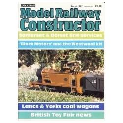 Model Railway Constructor 1987 March