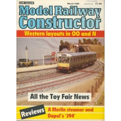Model Railway Constructor 1986 March